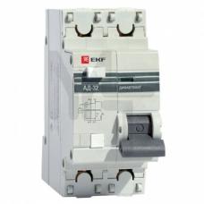 Дифференциальный автомат АД-32 1P+N 20А/30мА (хар. C, AC, электронный, защита 270В) 4,5кА EKF PROxima DA32-20-30-pro