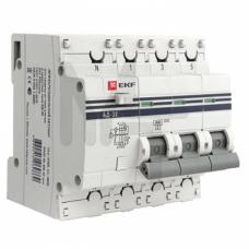 Дифференциальный автомат АД-32 3P+N 25А/30мА (хар. C, AC, электронный, защита 270В) 4,5кА EKF PROxima DA32-25-30-4P-pro