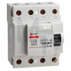 Устройство защитного отключения УЗО 4P 40А/300мА (электромеханическое) EKF elcb-4-40-300-em