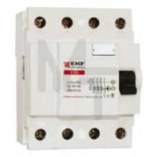 Устройство защитного отключения УЗО ВД-100 4P 25А/30мА (электромеханическое) EKF PROxima elcb-4-25-30-em-pro