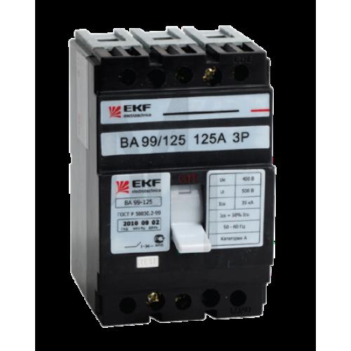 Выключатель автоматический ВА-99 125/32А 3P 25кА EKF PROxima mccb99-125-32