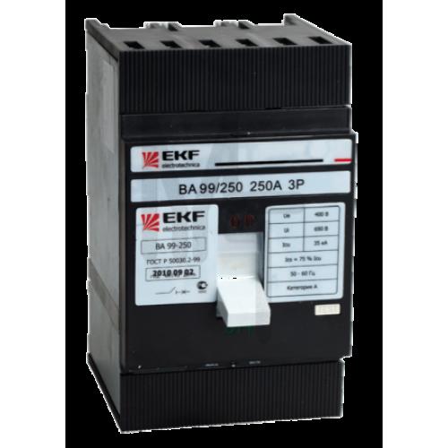 Выключатель автоматический ВА-99 250/250А 3P 35кА EKF PROxima mccb99-250-250