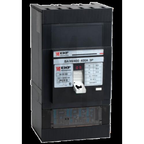 Выключатель автоматический ВА-99  400/400А 3P 35кА с электронным расцепителем EKF PROxima mccb99-400-400e