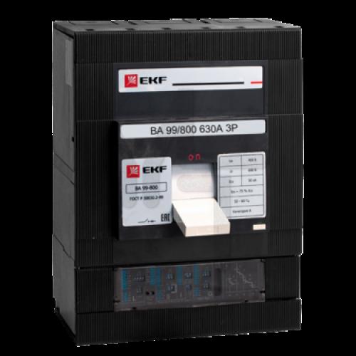 Выключатель автоматический ВА-99 800/800А 3P 35кА EKF PROxima mccb99-800-800