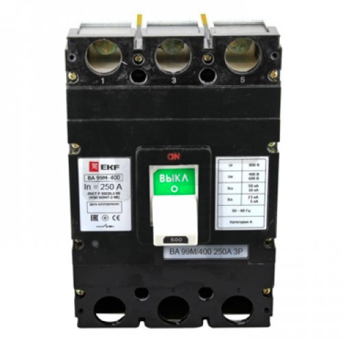 Выключатель автоматический ВА-99М 400/250А 3P 42кА EKF Basic mccb99-400-250m