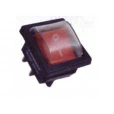 Клавишный переключатель YL208-01 2 положения черный/красная 2НО+2НЗ влагозащ. (30шт/упак) ЭНЕРГИЯ Е0901-0067