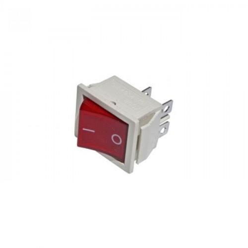 Клавишный переключатель YL211-04 2 положения белый/красная 1НО (200шт/упак) ЭНЕРГИЯ Е0901-0071