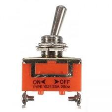 Выключатель-тумблер 1021 вкл-откл 1 группа контактов (25шт/упак) ЭНЕРГИЯ Е1103-0001