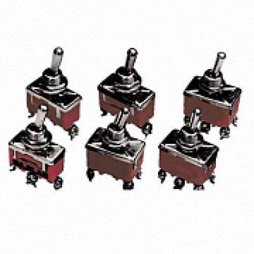Выключатель-тумблер 1221 вкл-откл 2 группы контактов (20шт/упак) ЭНЕРГИЯ Е1103-0004