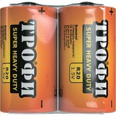Батарейки Трофи R20  D NEW S2 12шт/уп C0033714