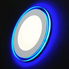 LED 3-9 BL Светильник ЭРА светодиодный круглый c cиней подсветкой LED 9W 220V 4000K Б0017493