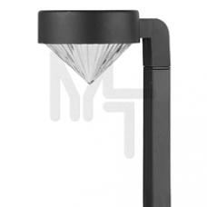 SL-PL42-DMD ЭРА Садовый светильник на солнечной батарее, пластик, черный, 42 см Б0007511