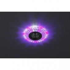 DK LD2 SL/WH+PU Светильник ЭРА декор cо светодиодной подсветкой( белый+фиолетовый), прозрачный Б0019198