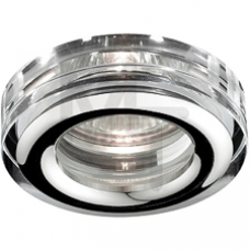 WR3 CH/SL Светильник ЭРА влагозащищенный MR16,12V/220V, 50W  хром/серебро Б0009343