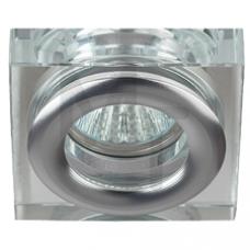 WR4 CH/SL Светильник  ЭРА влагозащищенный MR16,12V/220V, 50W  хром/серебро Б0009344