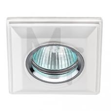 DK G1  Светильник ЭРА декор гипс под покраску  MR16,12V/220V, 50W, квадратный ,белый Б0003813