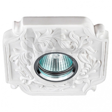 DK G3  Светильник ЭРА декор гипс под покраску  MR16,12V/220V, 50W, квадратный ,белый Б0003814