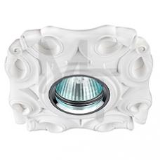 DK G8 Светильник ЭРА декор гипс под покраску  MR16,12V/220V, 50W, круглый,белый Б0003820