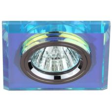 DK8 CH/PR Светильник  ЭРА декор стекло квадрат MR16,12V/220V, 50W, хром/перламутр C0043790