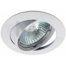 KL1A WH Светильник  ЭРА литой простой пов. MR16,12V/220V, 50W белый C0043658