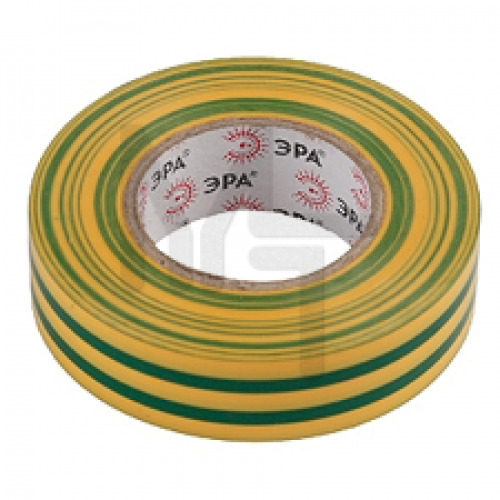 Изолента ПВХ 19мм*20м желто-зеленая ЭРА C0036545