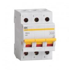 Выключатель нагрузки (мини-рубильник) ВН-32 3Р  20А ИЭК MNV10-3-020