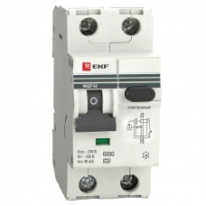 Дифференциальный автомат АВДТ-63 10А/30мА (хар-ка C, электронный тип A) 6кА EKF PROxima DA63-10-30e