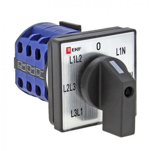 Переключатель кулачковый ПК-1-64 10А для вольтметра EKF PROxima pk-1-64-10