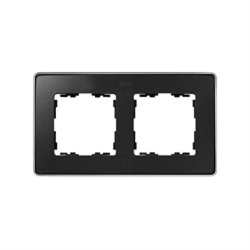 Рамка 2 поста, графит, основание латунь , 82 Detail 8201620-247