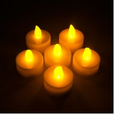 FL077 НАБОР из 6 шт*1LED янтарных свечей, 38*36мм чайные свечи 26854