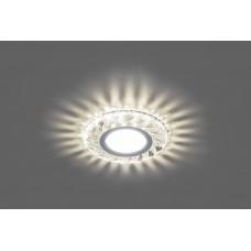 CD907 Светильник встраиваемый, 15LED*2835 SMD 4000K, MR16 50W G5.3, белый, хром 28850