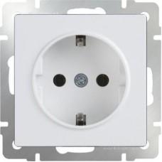 Розетка с заземлением (белая) / WL01-SKG-01-IP20 a051108