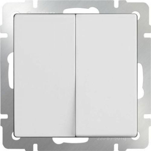 Выключатель  двухклавишный  (белый) / WL01-SW-2G a051135