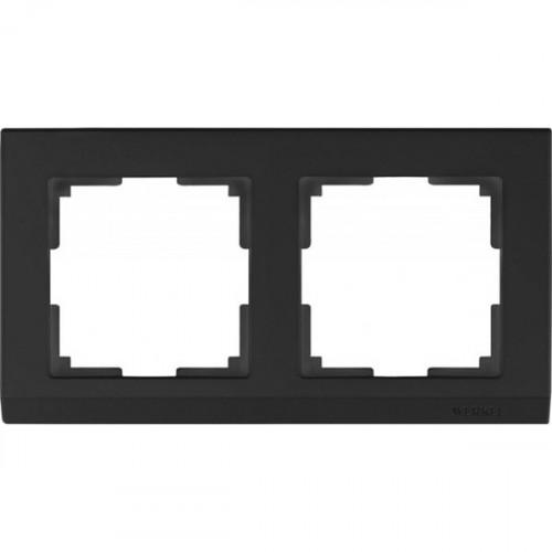 Рамка на 2 поста (черный) / WL04-Frame-02-black a029215