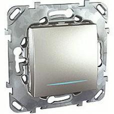 SE Unica Top Алюминий Переключатель 1-клавишный (сх.6) с подсветкой MGU5.203.30NZD