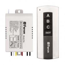 TM76 выключатель для светильников 230V 1000W 3-х канальный 30м с пультом управления, черное серебро 23345