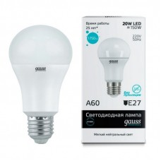 Лампа светодиодная Gauss LED Elementary A60 20W E27 4100K 23229