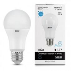 Лампа светодиодная Gauss LED Elementary A60 20W E27 6500K 23239