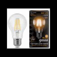Лампа светодиодная Gauss LED Filament A60 E27 6W 4100К 102802206