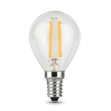 Лампа Gauss LED Filament Шар E14 5W 420lm 2700K 1/10/50 105801105