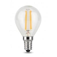 Лампа светодиодная Gauss LED Filament Globe E14 5W 4100K 105801205