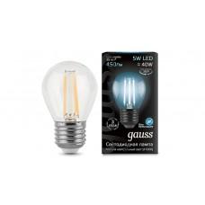 Лампа светодиодная Gauss LED Filament Globe E27 5W 4100K 105802205
