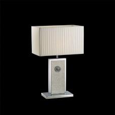 870936 (PD3088-WH) Настольная лампа FARAONE 1х60W E27 КОЖА/БЕЛЫЙ/ХРОМ 870936