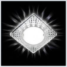 Светильник G231 CL/CH хром/прозрачный GX53+3W(LED WHITE) G231CL/CH