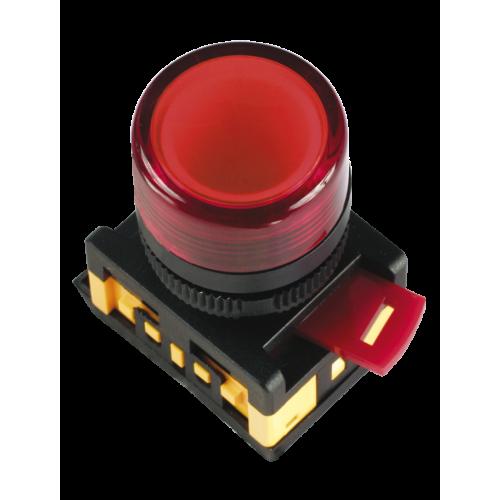 Лампа AL-22TE сигнальная d22мм красный неон/240В цилиндр ИЭК BLS30-ALTE-K04