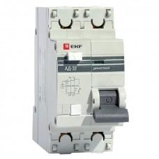Дифференциальный автомат АД-32 1P+N 6А/30мА (хар. C, AC, электронный, защита 270В) 4,5кА EKF PROxima DA32-06-30-pro