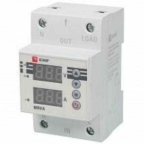 Реле напряжения и тока с дисплеем MRVA 63A EKF PROxima MRVA-63A