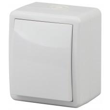 11-1401-01 Выключатель IP54, 10АХ-250В, ОУ, Эра Эксперт, белый  ЭРА Б0020669