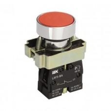 Кнопка управления LAY5-BA42 без подсветки красная 1р ИЭК BBT61-BA-K04