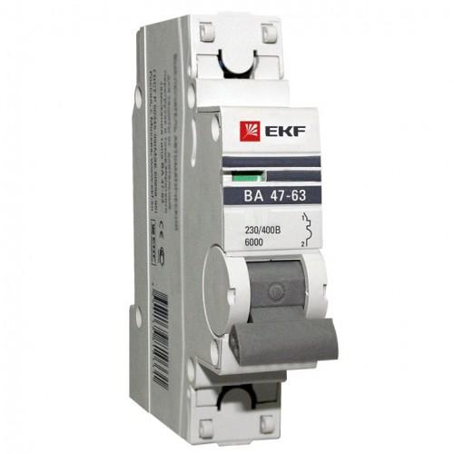 Автоматический выключатель 1P 10А (C) 6кА ВА 47-63 EKF PROxima mcb4763-6-1-10C-pro